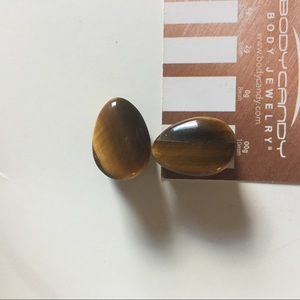 1/2 gauge Teardrop tigers eye double flare plugs
